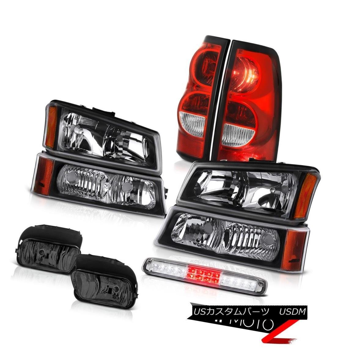テールライト 03-06 Silverado 1500 Roof Cab Lamp Smoked Fog Lamps Tail Signal Light Headlamps 03-06 Silverado 1500ルーフキャブ・ランプスモーク・フォグ・ランプテール・シグナル・ライトヘッドランプ