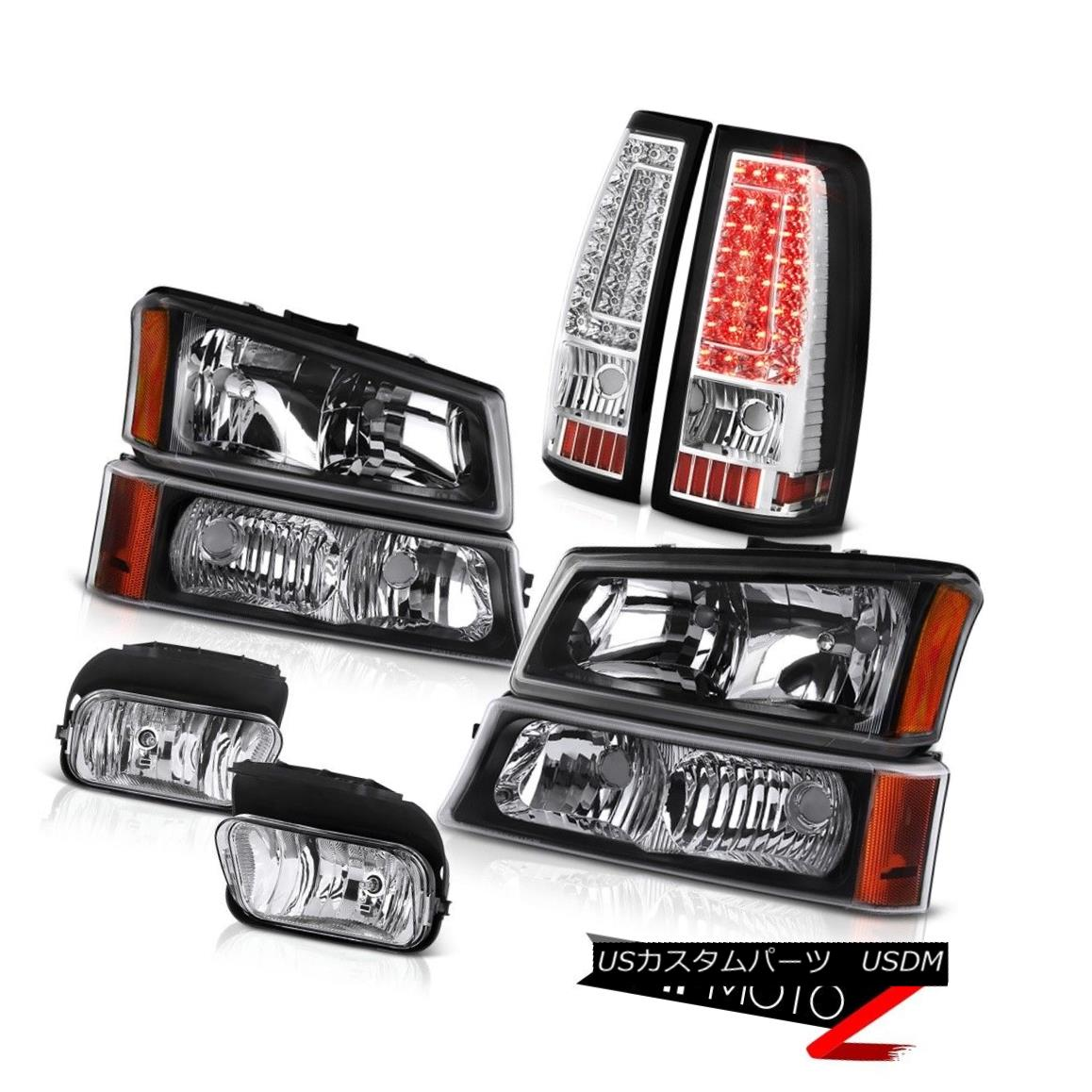テールライト 03 04 05 06 Silverado Chrome Foglamps Taillights Parking Lamp Headlamps LED SMD 03 04 05 06 Silverado Chrome FoglampsテールライトパーキングランプヘッドランプLED SMD