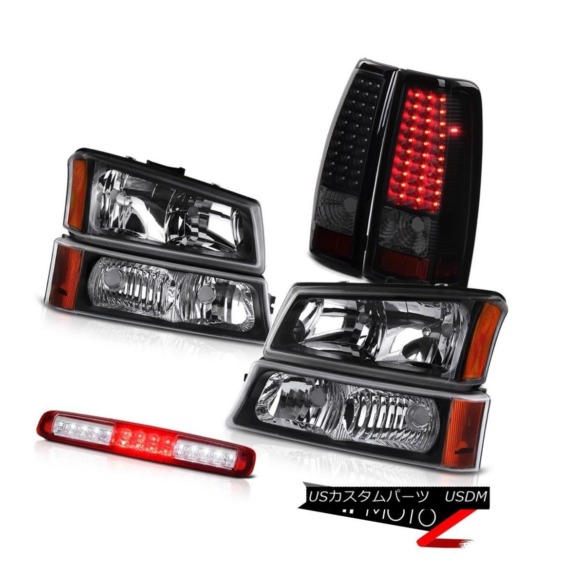 テールライト 03-06 Silverado 1500 Signal Lamp Wine Red Third Brake Headlights Tail Lamps SMD 03-06 Silverado 1500シグナルランプワインレッド第3ブレーキヘッドライトテールランプSMD