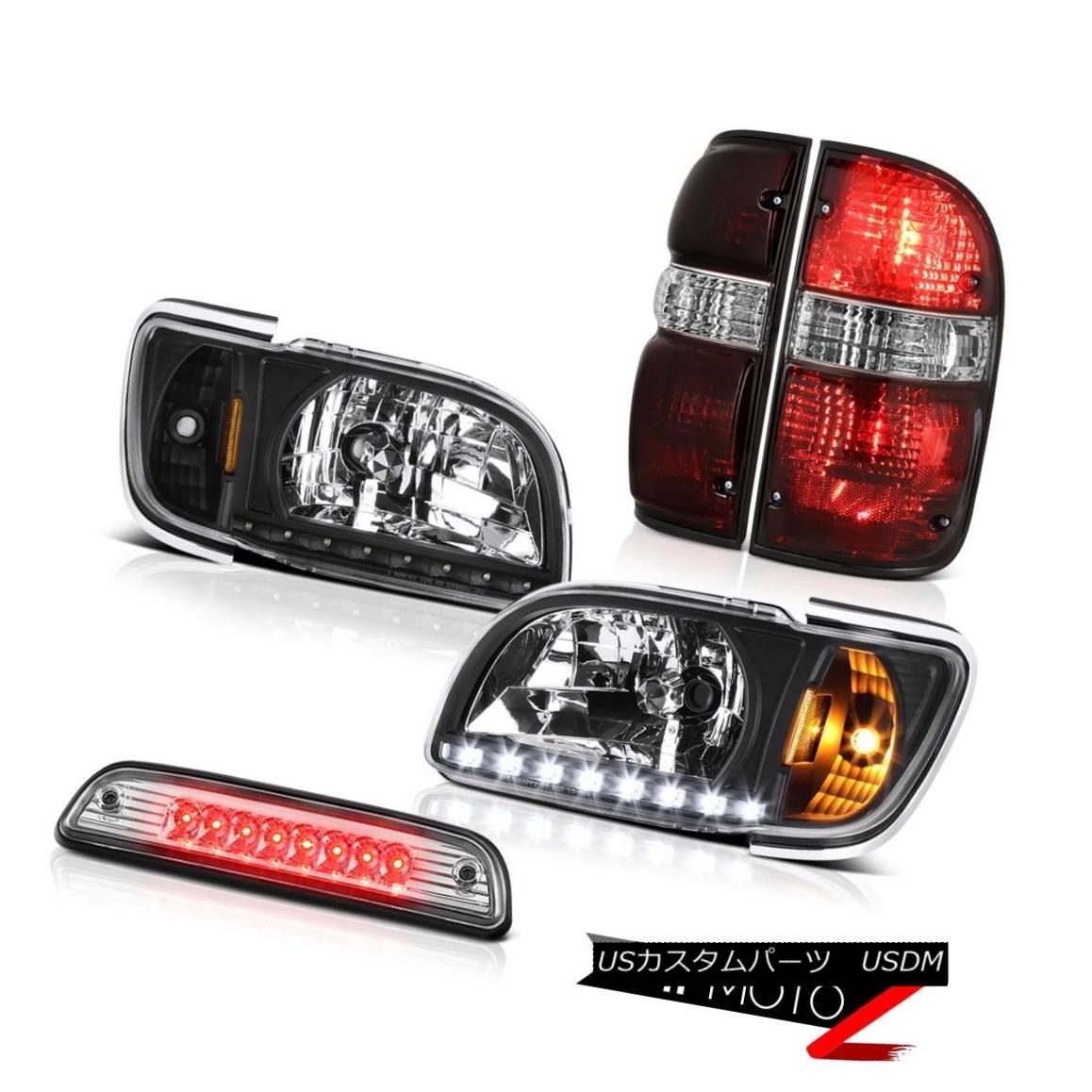 テールライト 2001-2004 Toyota Tacoma SR5 Roof brake lamp taillamps black headlamps bumper LED 2001-2004トヨタタコマSR5ルーフブレーキランプテールランプブラックヘッドランプバンパーLED