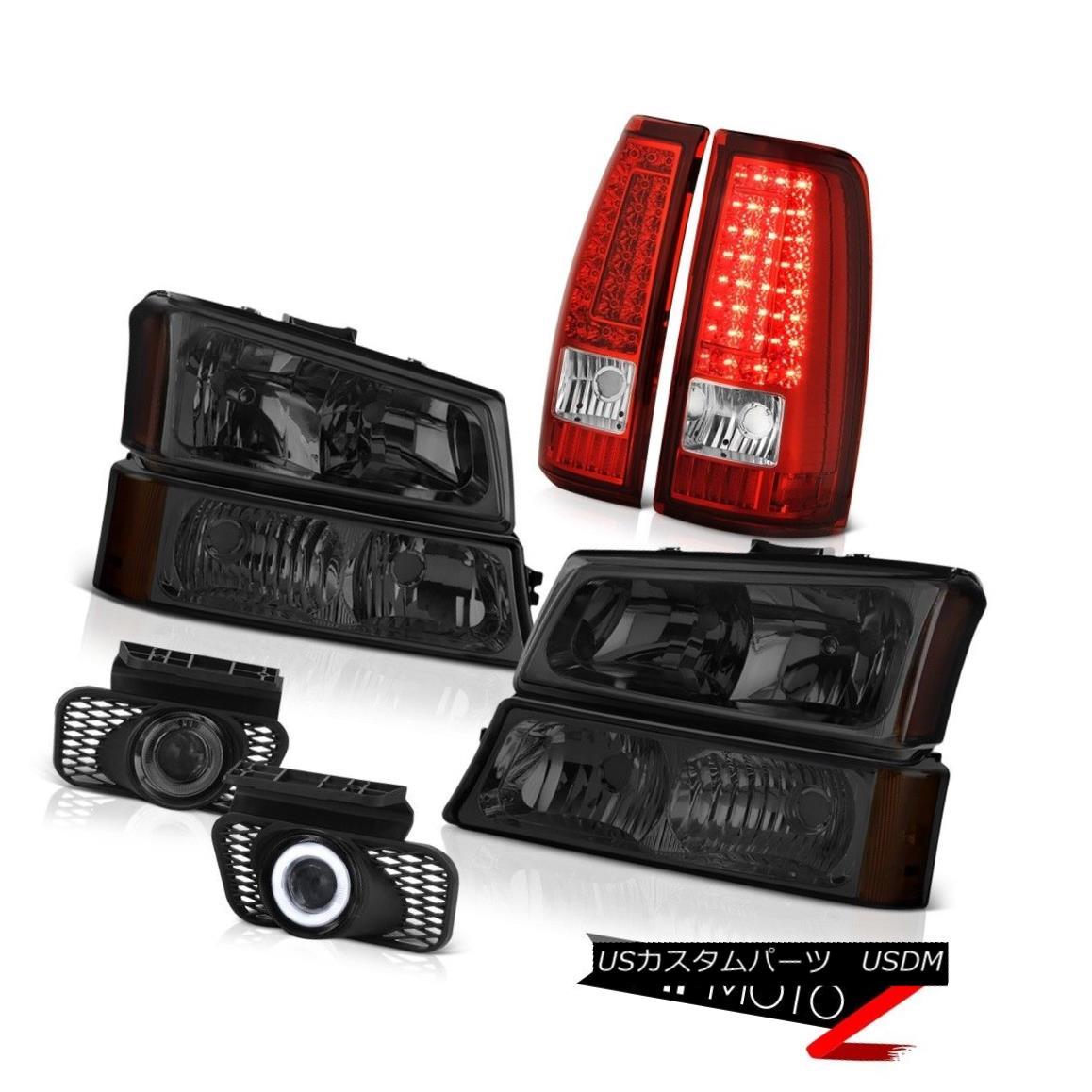 テールライト 03-06 Silverado 1500 Smoked Fog Lights Rosso Red Tail Brake Lamps Headlamps SMD 03-06 Silverado 1500スモークフォグライトロッソレッドテールブレーキランプヘッドランプSMD