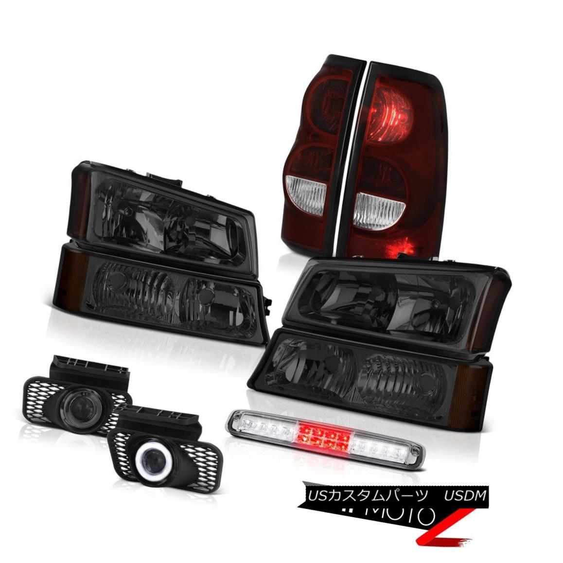 テールライト 2003-2006 Silverado Chrome Roof Cab Light Smokey Fog Lamps Taillights Headlamps 2003-2006シルバラードクロームルーフキャブライトスモーキーフォグランプテールライトヘッドランプ