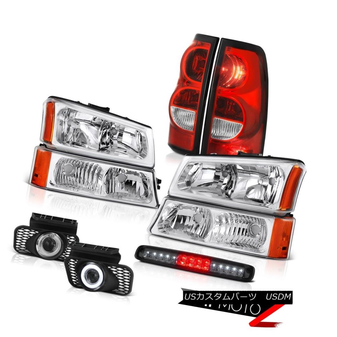 テールライト 03 04 05 06 Silverado Roof Cab Lamp Chrome Fog Lights Parking Brake Headlamps 03 04 05 06シルバラードルーフキャブランプクロームフォグライトパーキングブレーキヘッドランプ