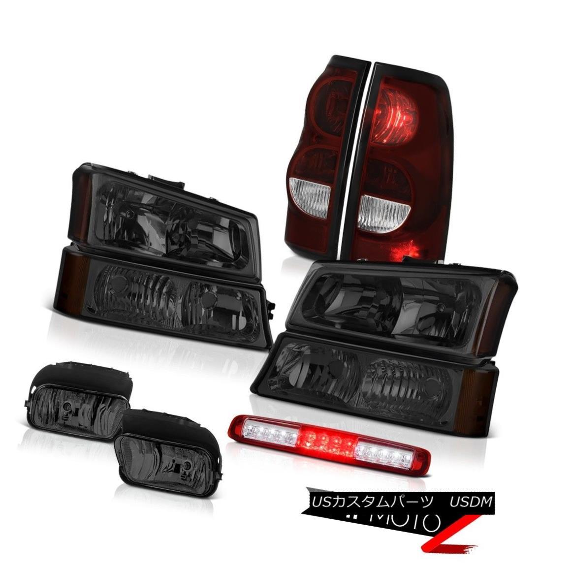 テールライト 03-06 Silverado 2500Hd Wine Red Roof Cab Lamp Fog Lamps Taillights Headlights 03-06 Silverado 2500Hdワインレッド・ルーフ・キャブ・ランプフォグ・ランプ・テールライト・ヘッドライト