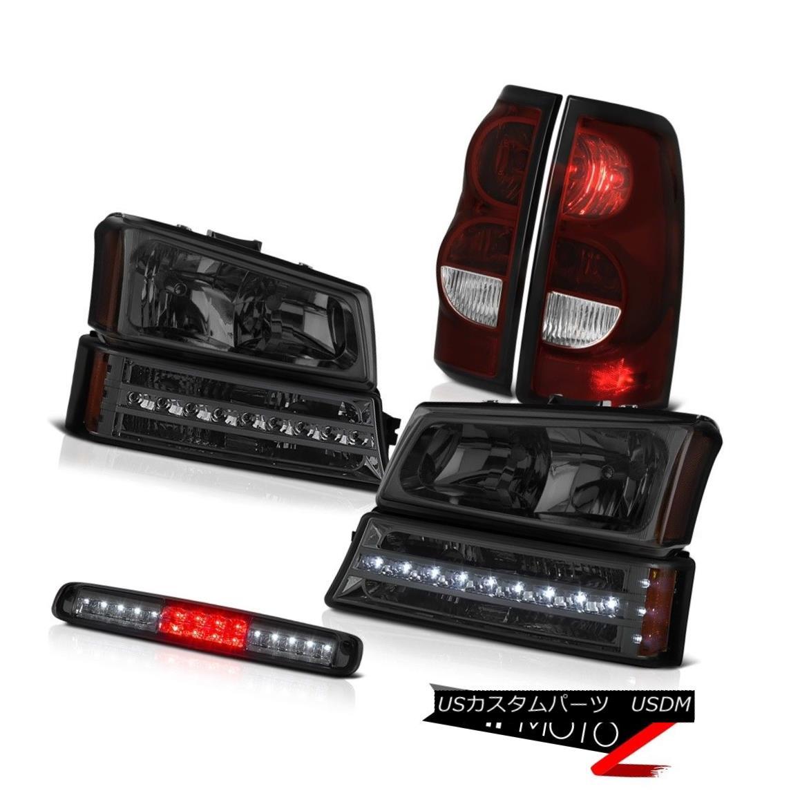 テールライト 03-06 Silverado 1500 Roof Brake Lamp Smokey Red Taillamps Turn Signal Headlights 03-06 Silverado 1500屋根用ブレーキランプスモーキーレッドタイルランプターンシグナルヘッドライト