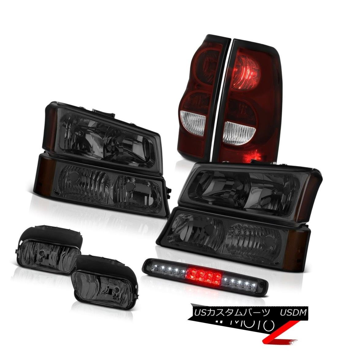 テールライト 03-06 Silverado 1500 Phantom Smoke 3RD Brake Lamp Foglamps Taillamps Headlights 03-06 Silverado 1500ファントムスモーク3RDブレーキランプフォグランプタイルランプヘッドライト