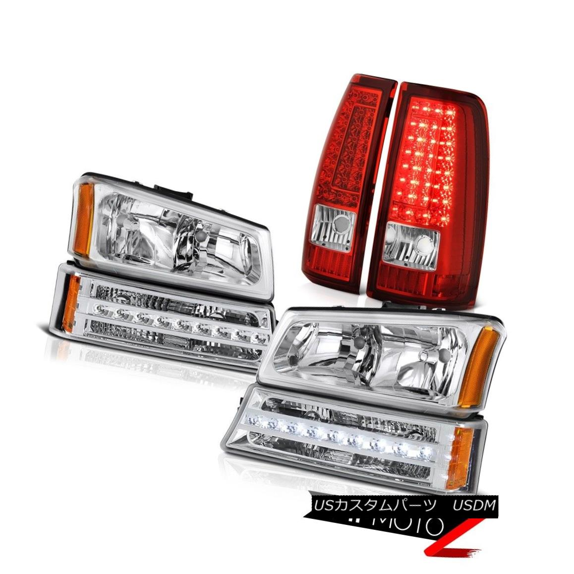 テールライト 03-06 Silverado 3500Hd Red Rear Brake Lights Bumper Lamp Headlamps