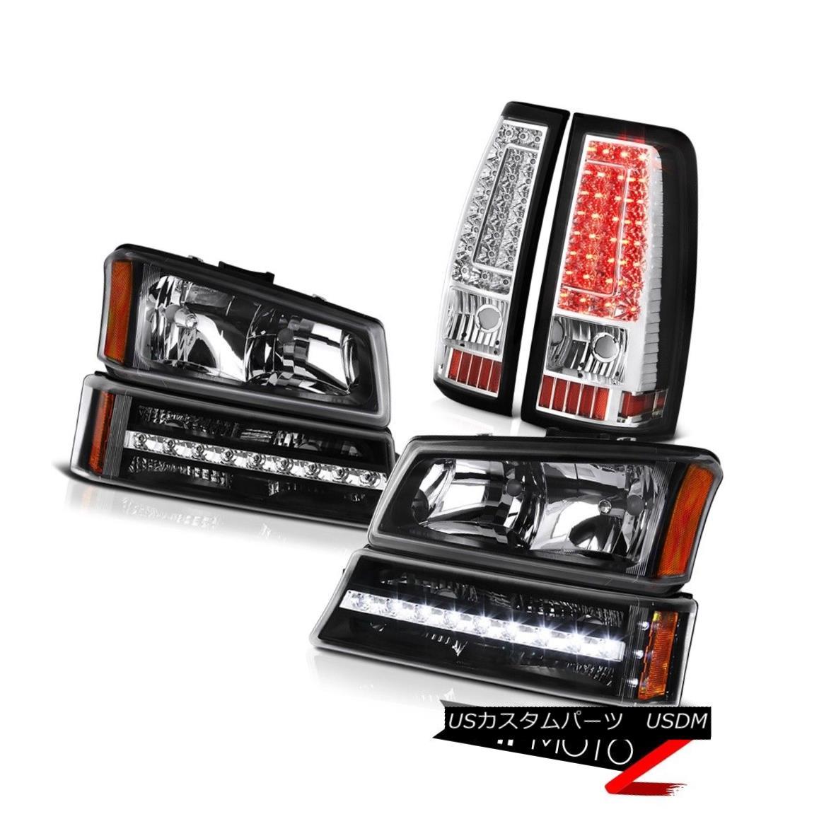 テールライト 2003-2006 Chevy Silverado 2500Hd Chrome Rear Brake Lamps Turn Signal Headlights 2003-2006シボレーシルバラード2500Hdクロームリアブレーキランプ信号ヘッドライト