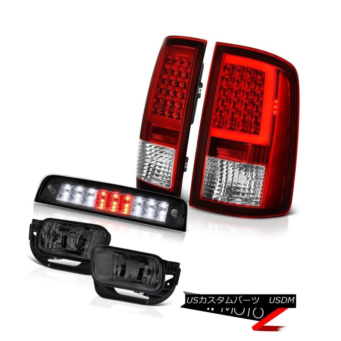 テールライト 09-18 Dodge RAM 2500 Brake Lights Red Fiber Optic Tail Light Fog Lamp Assembly 09-18ダッジRAM 2500ブレーキライト赤色光ファイバテールライトフォグランプアセンブリ