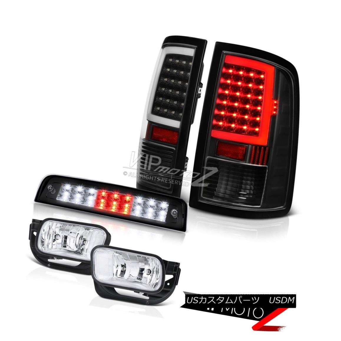 テールライト 09-18 Dodge RAM 2500 3500 Infinity Black Brake Light Led Tail Lights Fog Lamps 09-18 Dodge RAM 2500 3500 InfinityブラックブレーキライトLedテールライトフォグランプ