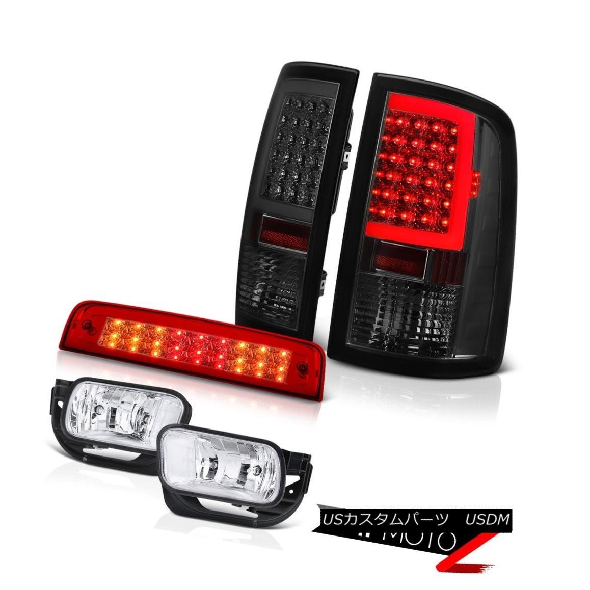 テールライト 09 10 11 12 13 Dodge RAM 1500 Smoked Tail Lamps Red Brake Lights Fog Light SET 09 10 11 12 13ダッジRAM 1500スモークテールランプレッドブレーキライトフォグライトSET