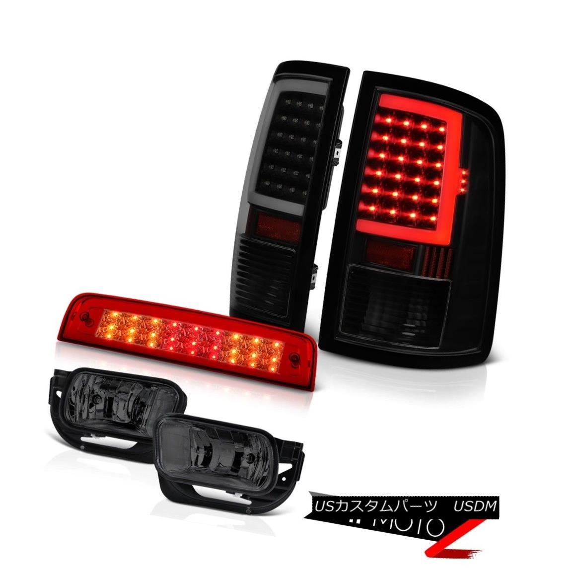 テールライト 09 10 11-13 Dodge RAM 1500 2500 3500 Dark Tinted Led Tail Lights Brake Fog Light 09 10 11-13ダッジRAM 1500 2500 3500ダークテールライトテールライトブレーキフォグライト