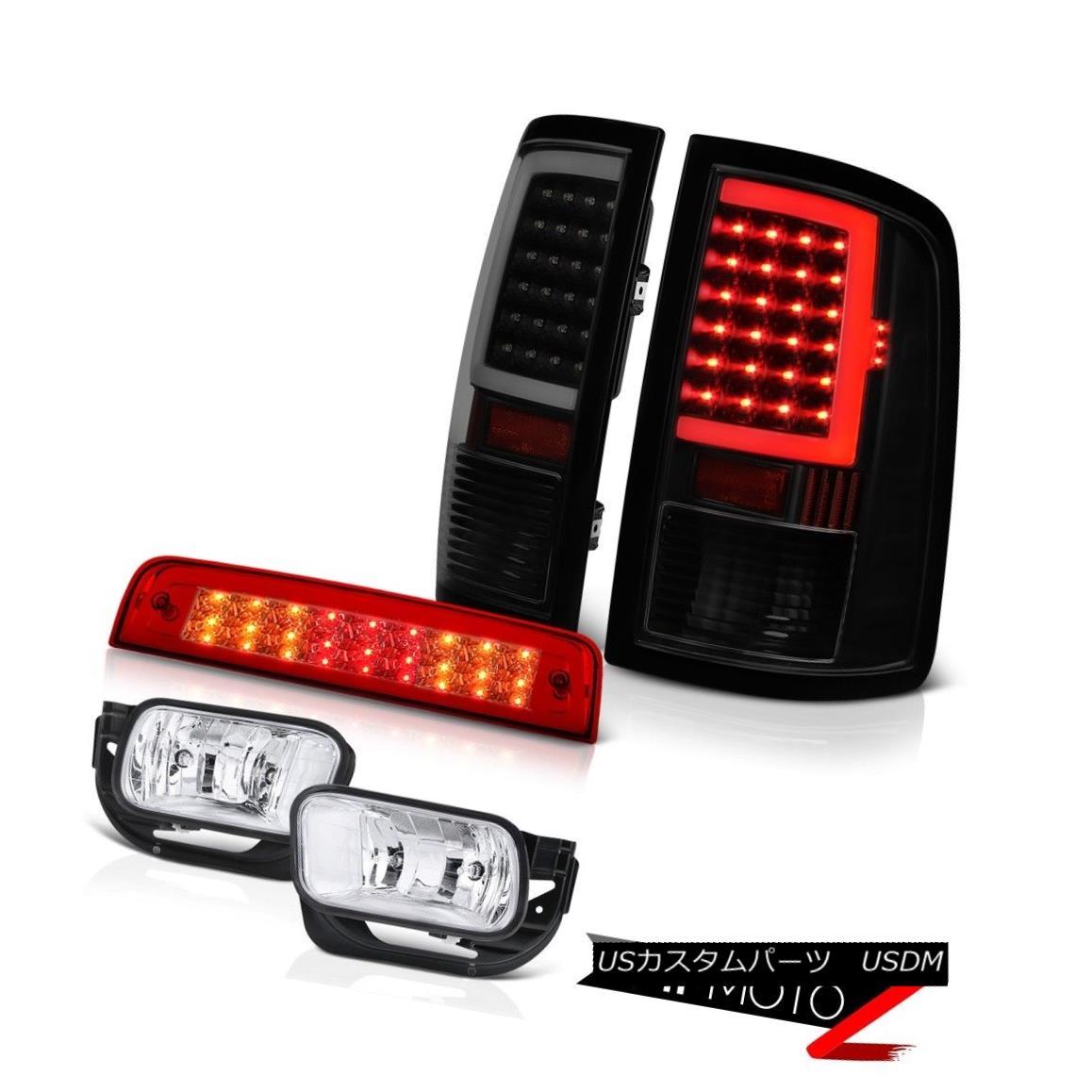 テールライト 09 10 11-13 Dodge RAM 1500 2500 Tail Lamps 3rd Brake Lights Sterling Chrome Fog 09 10 11-13ダッジRAM 1500 2500テールランプ第3ブレーキライトスターリングクロムフォグ