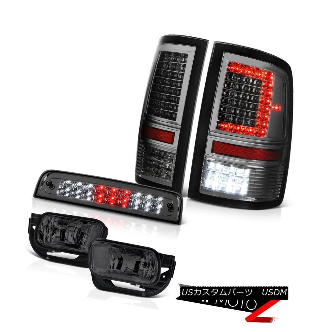 テールライト 09-18 Dodge RAM 2500 3500 Smokey Tail Light Fog Lamps Third Brake Lights PAIR 09-18ダッジRAM 2500 3500スモーキーテールライトフォグランプ第3ブレーキライトPAIR
