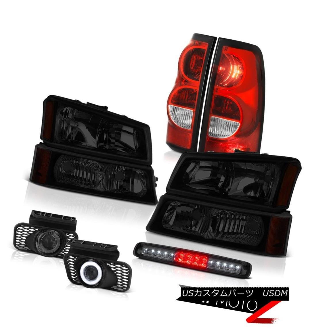 テールライト 03-06 Silverado 3500Hd Roof Cab Lamp Fog Lamps Taillamps Dark Tinted Headlamps 03-06シルバラード3500Hdルーフキャブランプフォグランプタイルランプダークティンテッドヘッドランプ