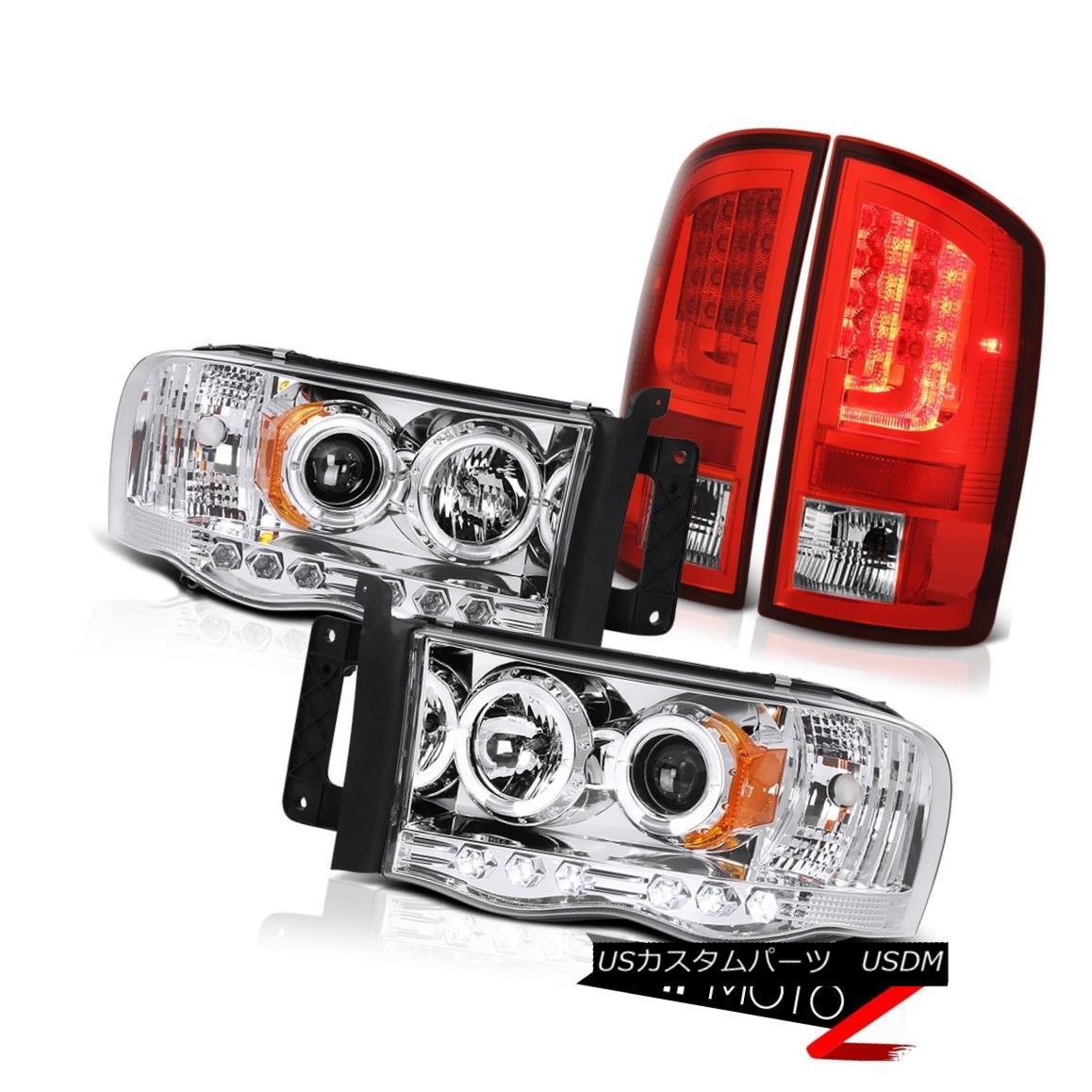 テールライト 2003-2005 Dodge Ram 2500 ST Bloody Red Tail Lights Headlamps Light Bar Halo Ring 2003-2005 Dodge Ram 2500 ST BloodyレッドテールライトヘッドランプライトバーHaloリング