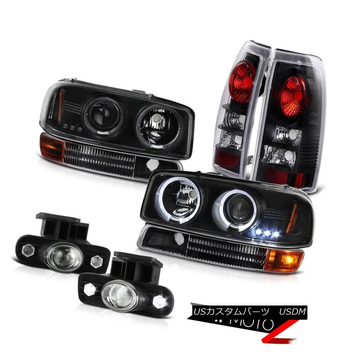 テールライト LED Daytime Projector Headlights Reverse Tail Light Halo Fog 99-03 Sierra 3500HD LED昼間プロジェクターヘッドライトリバーステールライトHalo Fog 99-03 Sierra 3500HD
