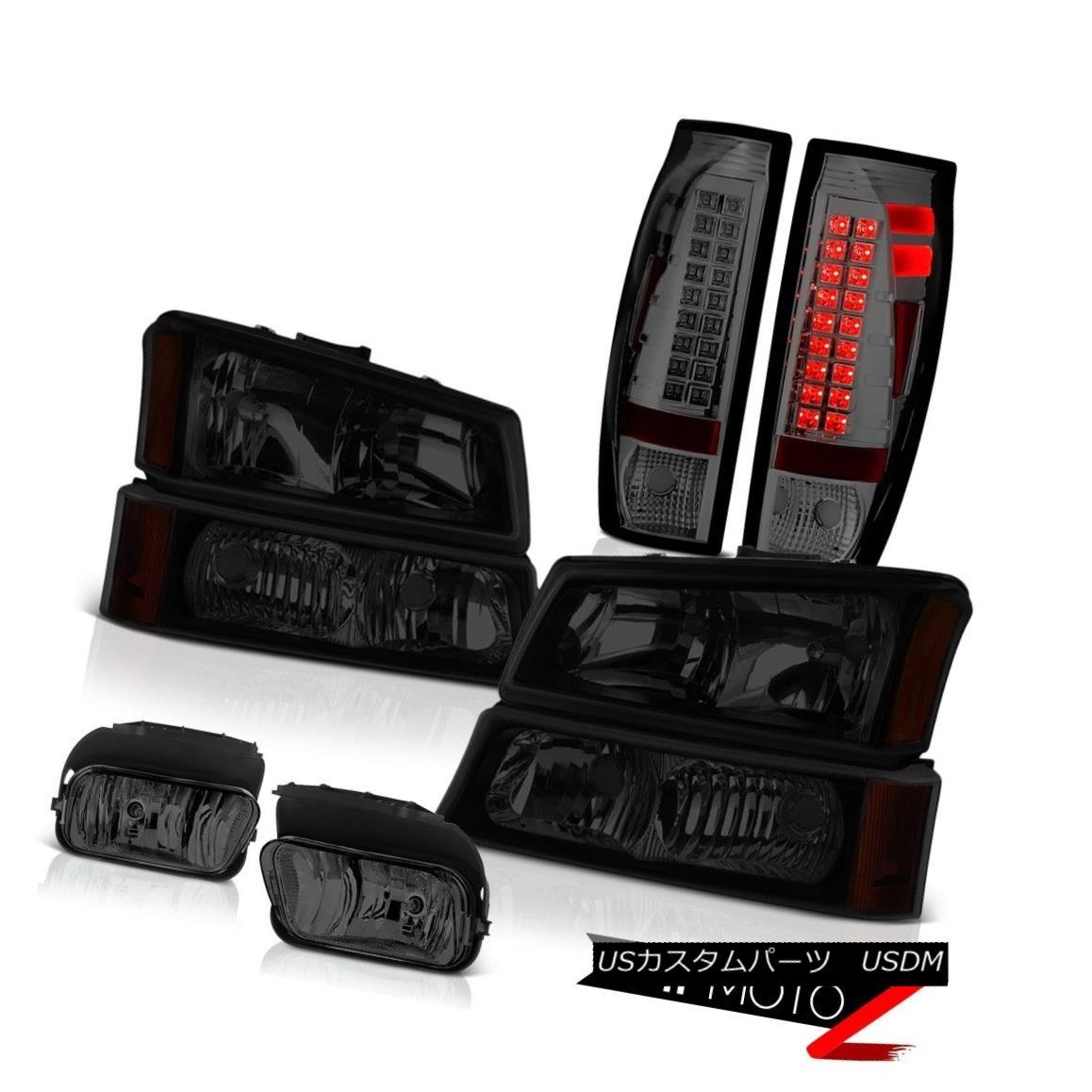テールライト 03 04 05 06 Avalanche 2500HD Dark Smoke Foglamps Taillamps Darkest Headlights 03 04 05 06アバランチ2500HDダークスモークフォグランプタイルランプダークヘッドライト