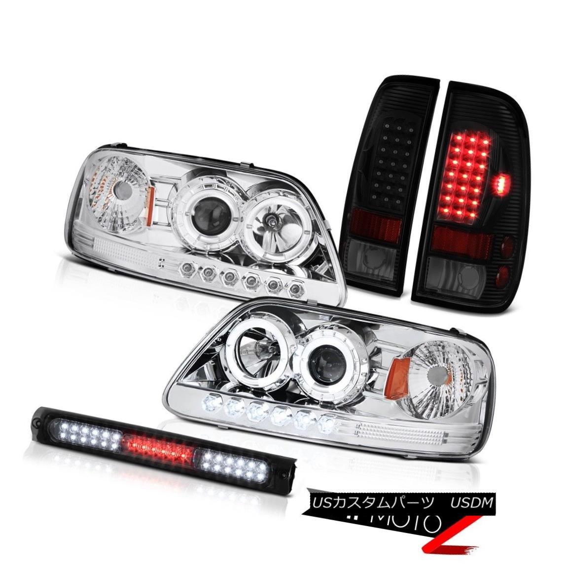 テールライト 97-03 F150 Xlt Smoked Roof Cab Light Tail Brake Lamps Euro Chrome Headlights 97-03 F150 Xltスモークルーフキャブライトテールブレーキランプユーロクロームヘッドライト