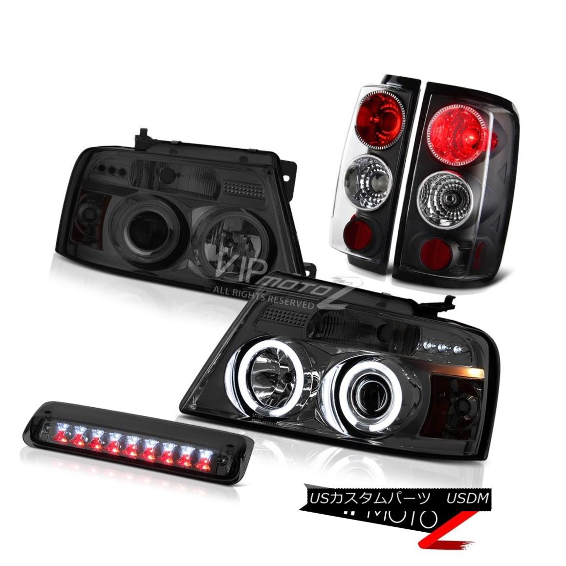 テールライト 04-08 Ford F150 XLT Roof Cab Light Headlamps Infinity Black Taillights Altezza 04-08 Ford F150 XLTルーフキャブライトヘッドランプInfinity Black Taillights Altezza