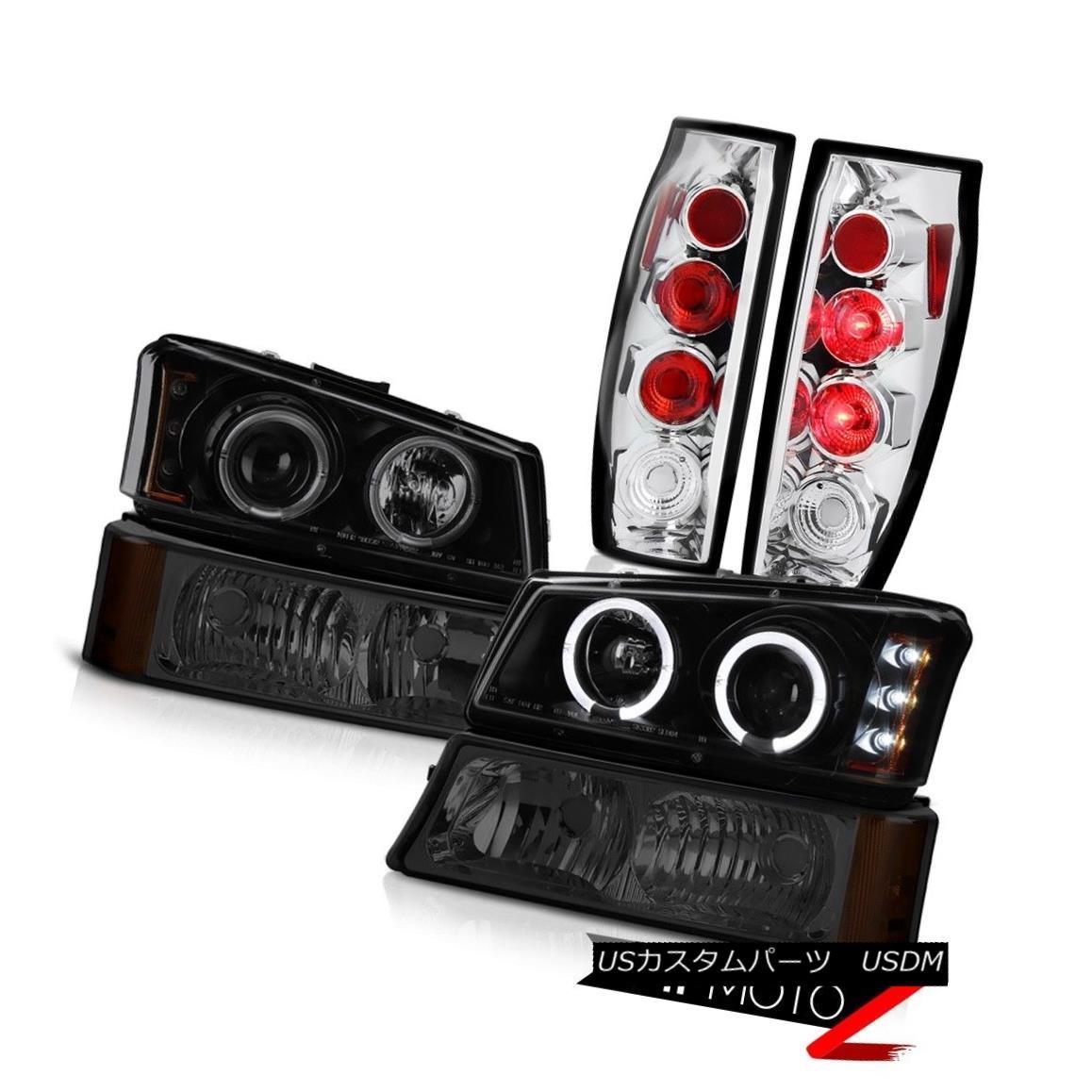 テールライト 03-06 Avalanche Sterling Chrome Tail Brake Lamps Smokey Signal Light Headlamps 03-06アバランチェスターリングクロムテールブレーキランプスモーキーシグナルライトヘッドランプ