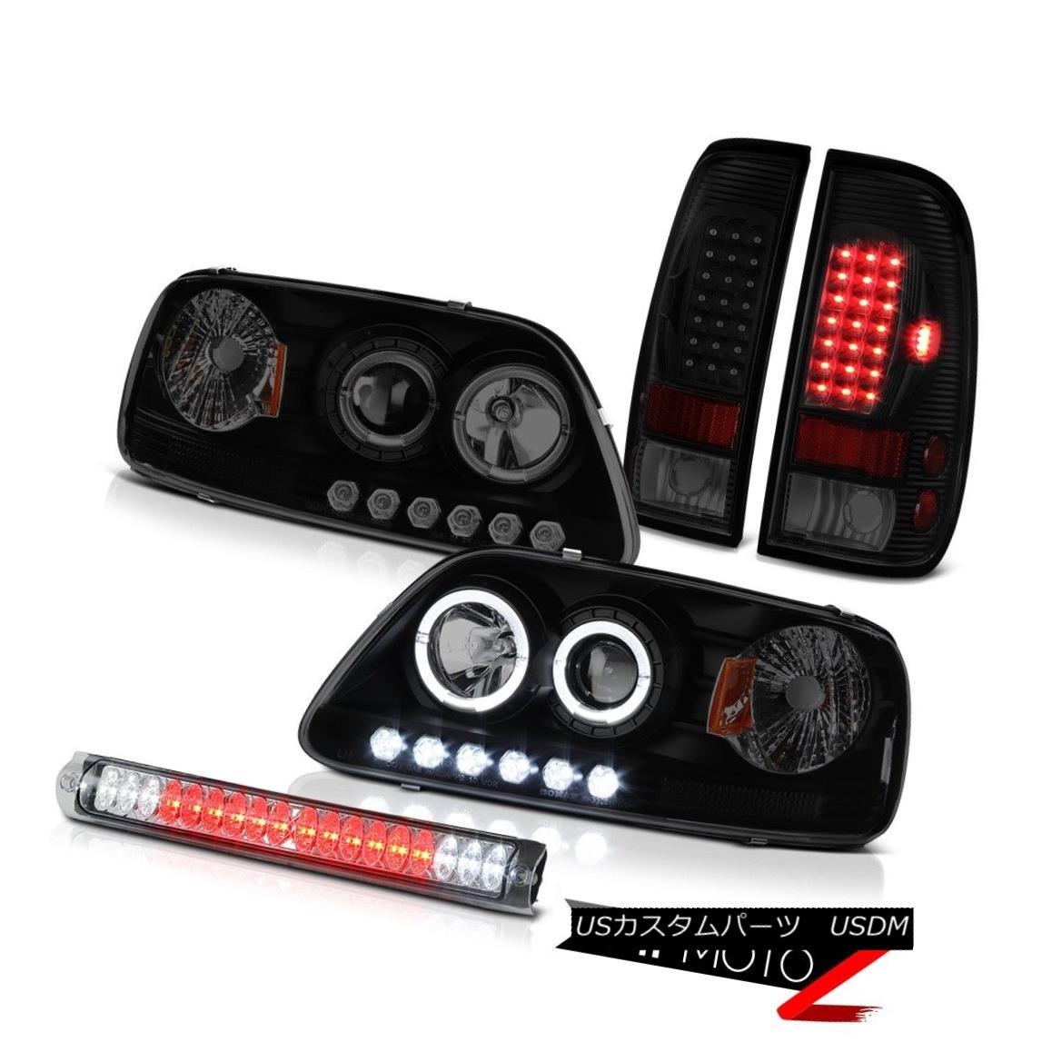 テールライト 97-03 Ford F150 Roof Cab Lamp Taillights Headlights LED Dual Halo