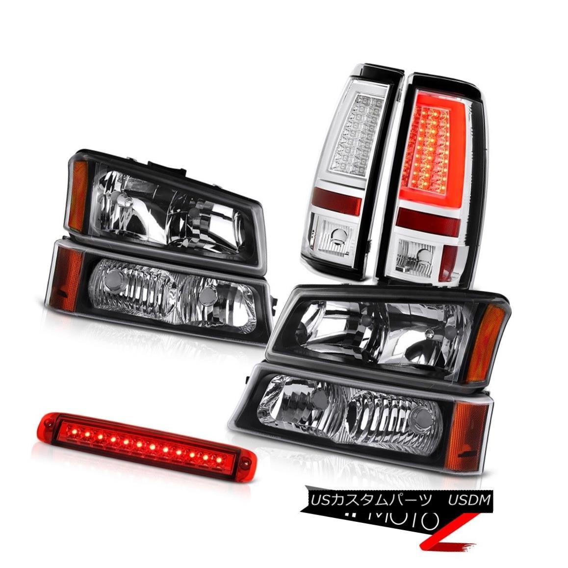 テールライト 2003-2006 Silverado 1500 Tail Lights Roof Cab Light Inky Black Bumper Headlights 2003-2006シルバラード1500テールライトルーフキャブライトインキブラックバンパーヘッドライト