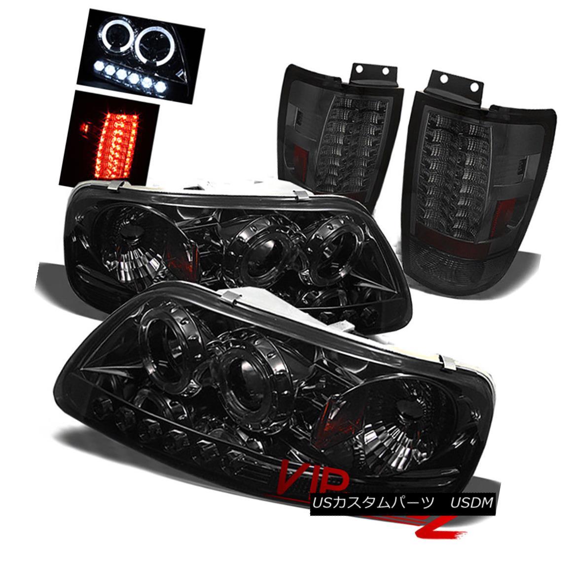 テールライト F150 1997-2004 V8 StyleSide 1PC Smoke Amber Headlight+LED Tail Light Brake Lamp F150 1997-2004 V8 StyleSide 1PCスモークアンバーヘッドライト+ LEDテールライトブレーキランプ