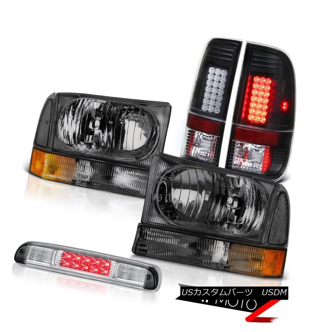 テールライト Crystal Headlights LED Bulbs Tail Lights Roof Stop Clear 1999-2004 Ford F250 XLT クリスタルヘッドライトLED電球テールライトルーフストップクリア1999-2004 Ford F250 XLT