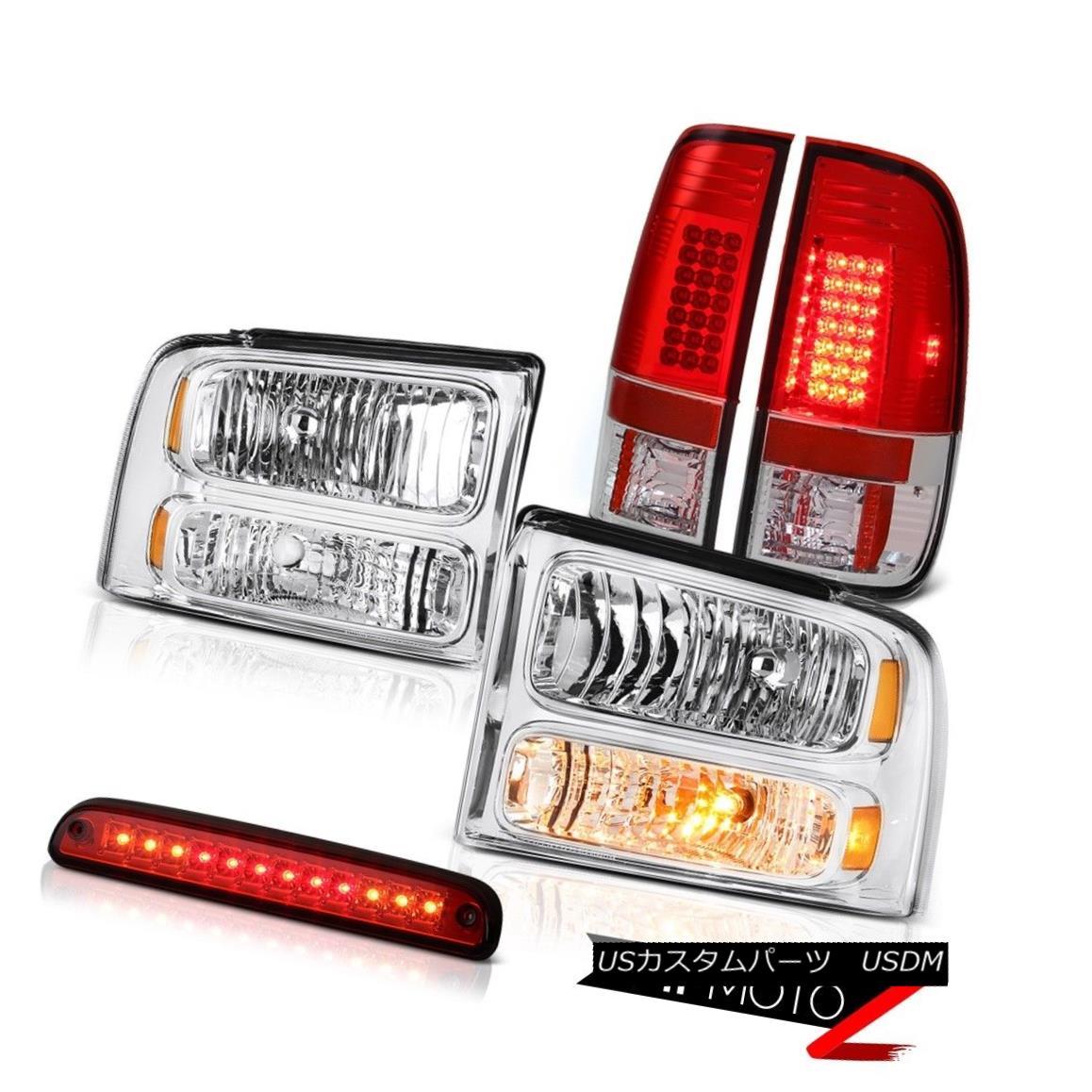 テールライト 2005-2007 F250 Lariat Factory Style Headlights Brake Lamps Taillight 3rd Red LED 2005-2007 F250 Lariat工場スタイルヘッドライトブレーキランプテールライト第3赤色LED