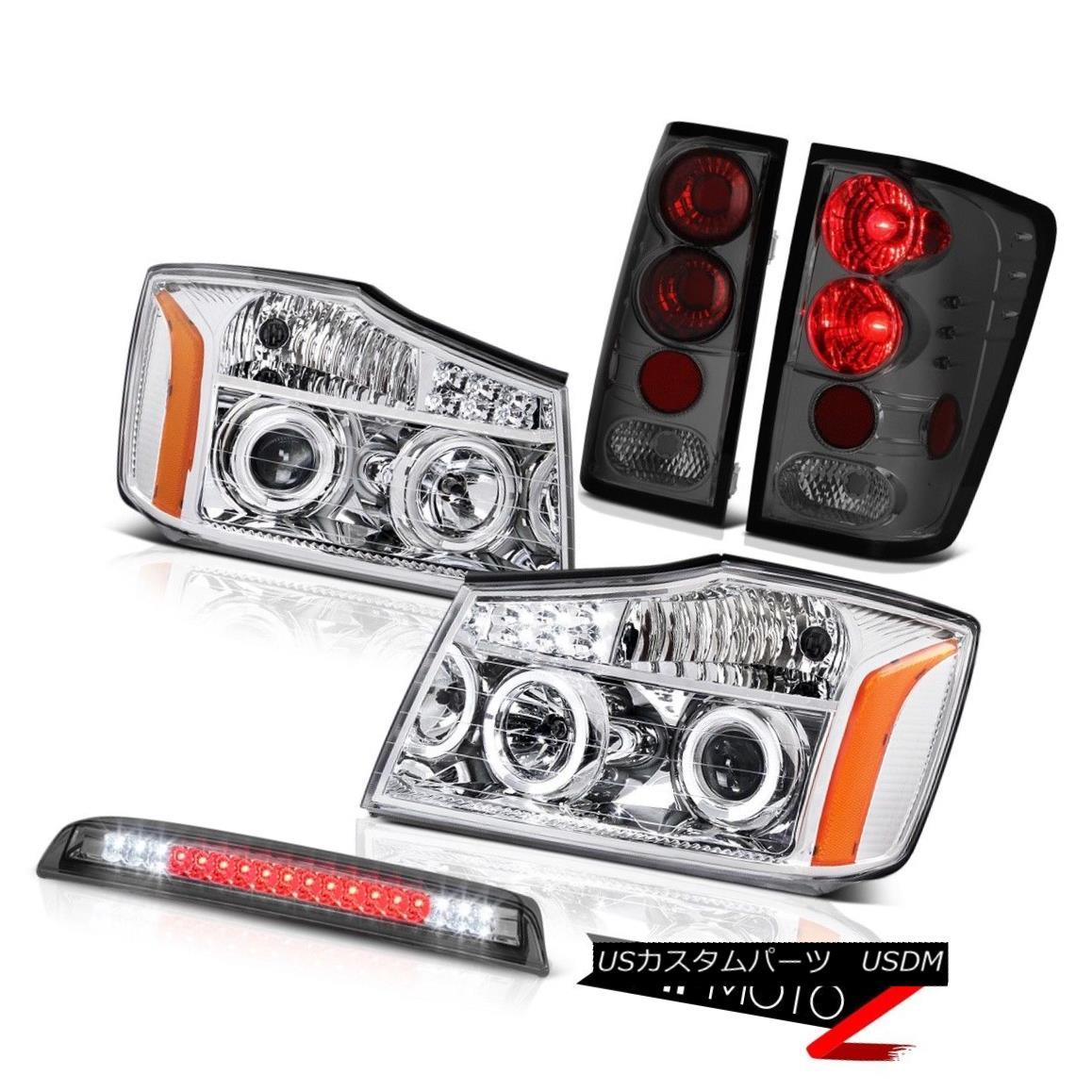 テールライト For 04-15 Titan SE Projector Headlight Halo Taillight Smoke Roof 3rd Brake LED 04-15タイタンSEプロジェクターヘッドライトHalo Taillightスモークルーフ第3ブレーキLED
