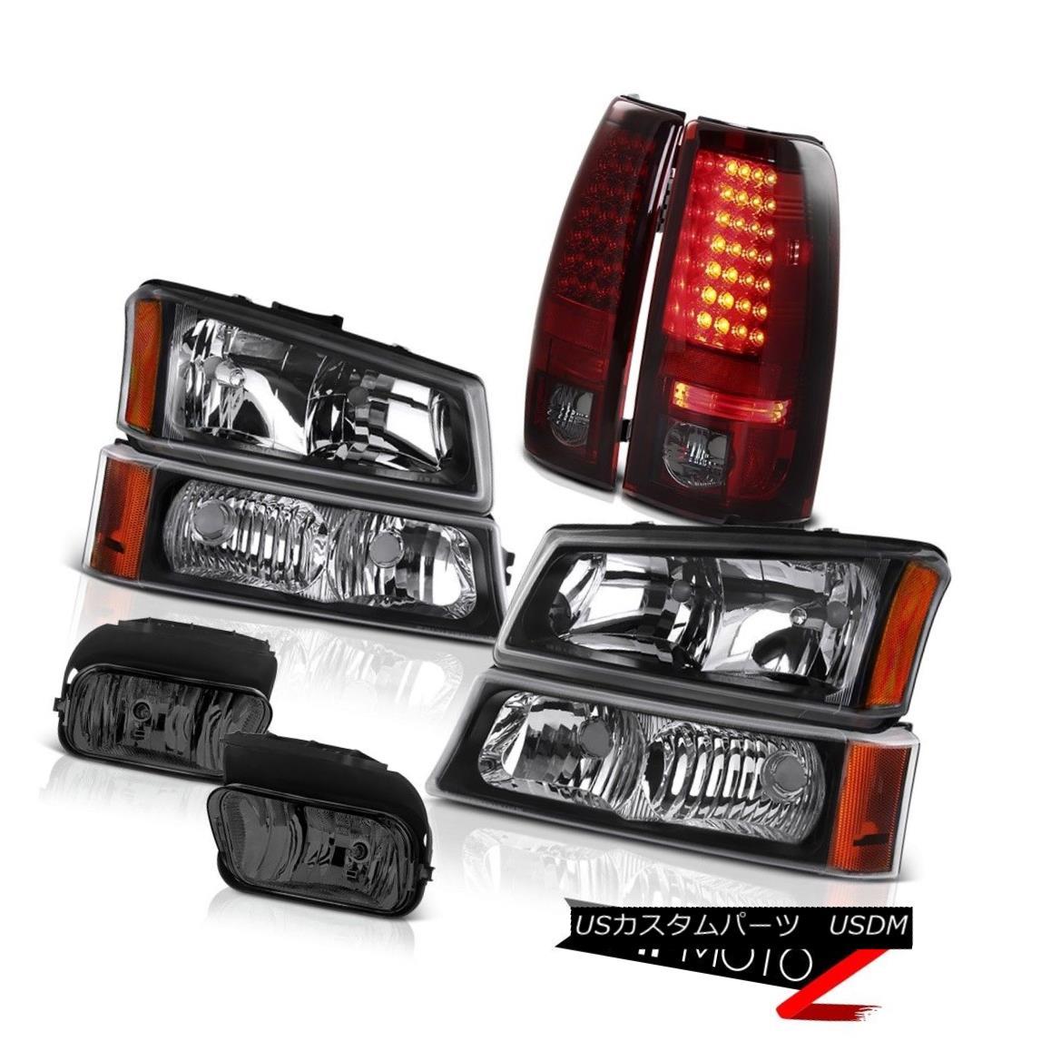 テールライト 03 04 Silverado Vortec Max Bumper+Headlamps Smoke LED Brake Lamp Bumper Foglamp 03 04 Silverado Vortec Maxバンパー+ヘッドラム psスモークLEDブレーキランプバンパーフォグランプ