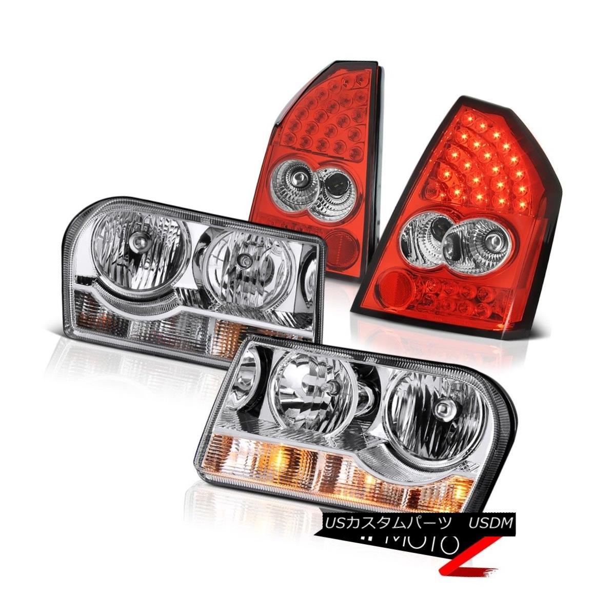 テールライト 2005-2007 Chrysler 300 Left Right Headlights Rosso Red Rear Driving Tail Lights 2005-2007クライスラー300左ライトヘッドライトロッソレッドリアドライビングテールライト