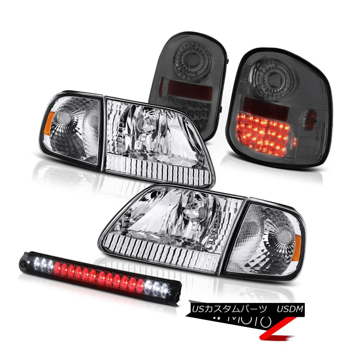 テールライト Euro Chrome Headlights Smoke LED Tail Lights High Stop 97-03 Ford F150 Flareside ユーロクロームヘッドライトスモークLEDテールライトハイストップ97-03 Ford F150 Flareside