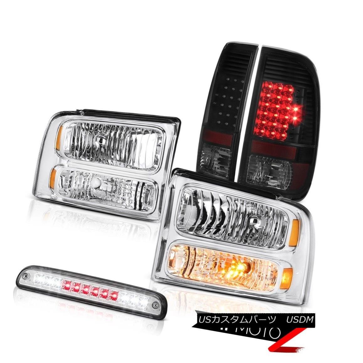テールライト 05 06 07 F250 F350 Chrome Headlights Philip SuperFlux LED Tail Lights Roof Brake 05 06 07 F250 F350クロームヘッドライトPhilip SuperFlux LEDテールライトルーフブレーキ