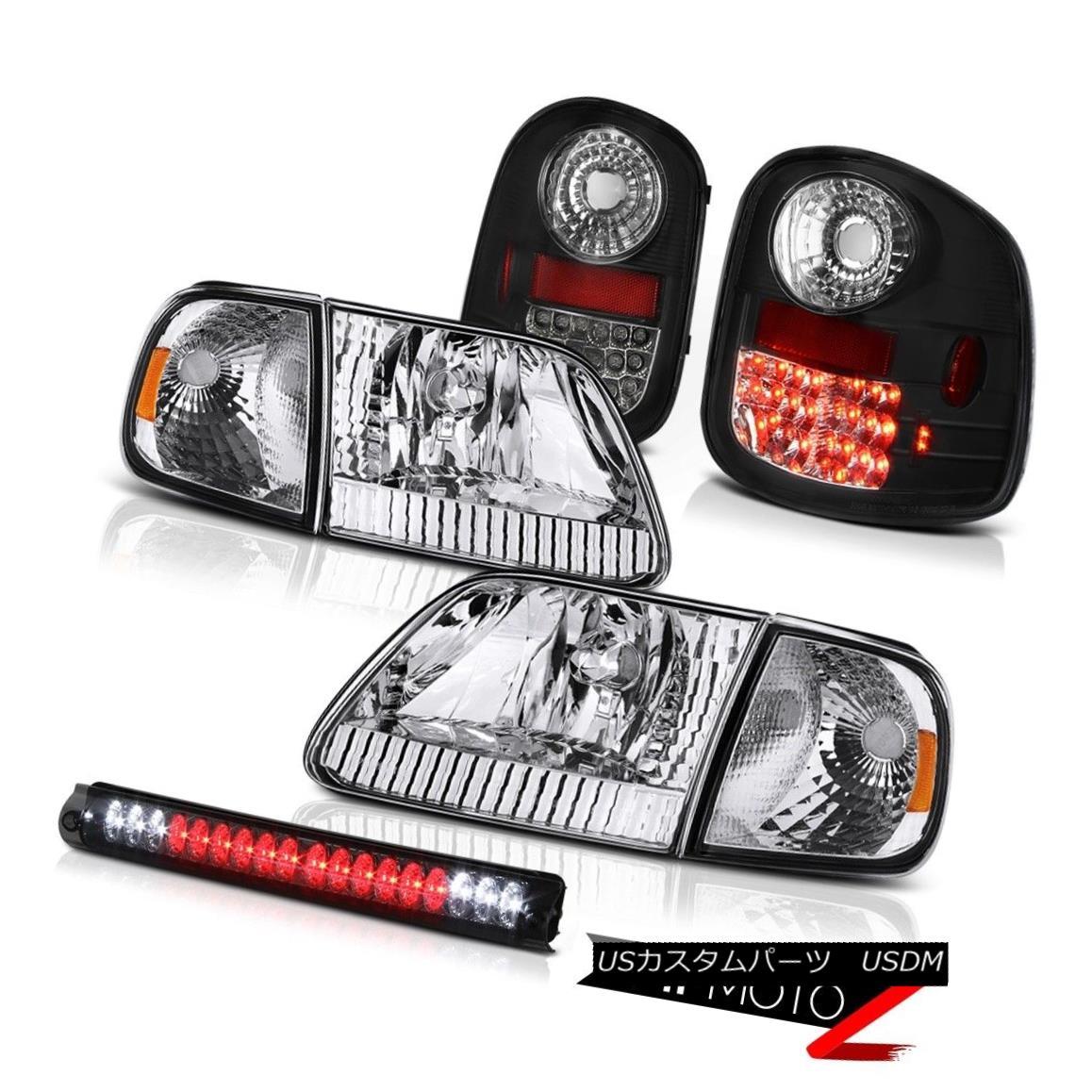 テールライト Headlights Corner Black Brake Tail Lights High Cargo LED 97-03 F150 Flareside XL ヘッドライトコーナーブラックブレーキテールライトハイカーゴLED 97-03 F150 Flareside XL