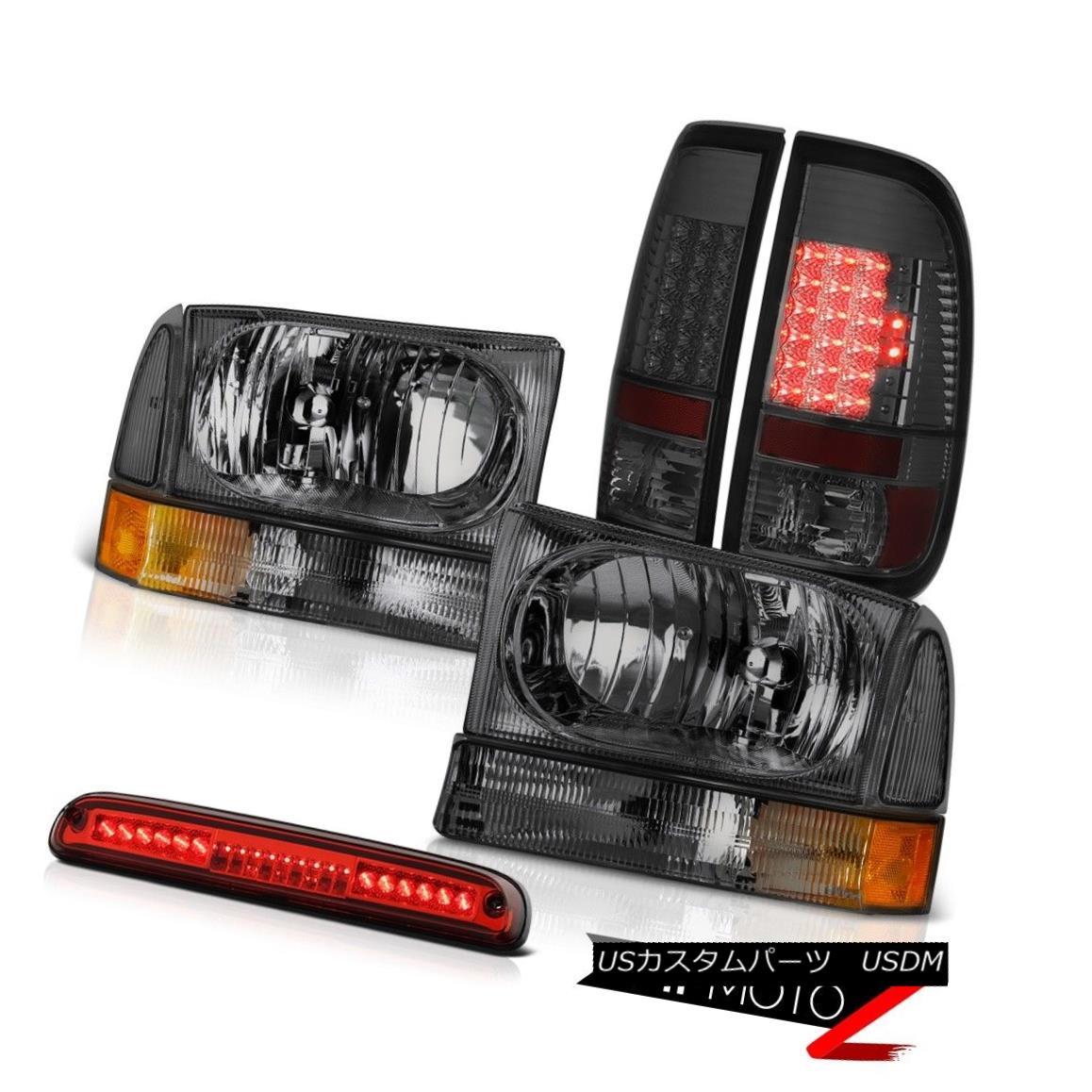 テールライト 99 00 01 02 03 04 F350 Lariat Smoke Headlight LEFT RIGHT LED Brake Lamps 3rd Red 99 00 01 02 03 04 F350ラリアートスモークヘッドライトLEFT RIGHT LEDブレーキランプ3rdレッド