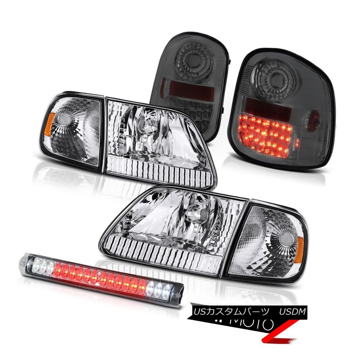 テールライト Parking Headlights Tail Light LED Tinted Roof Stop Clear 97-03 F150 Flareside XL パーキングヘッドライトテールライトLEDチョップドルーフストップクリア97-03 F150 Flareside XL