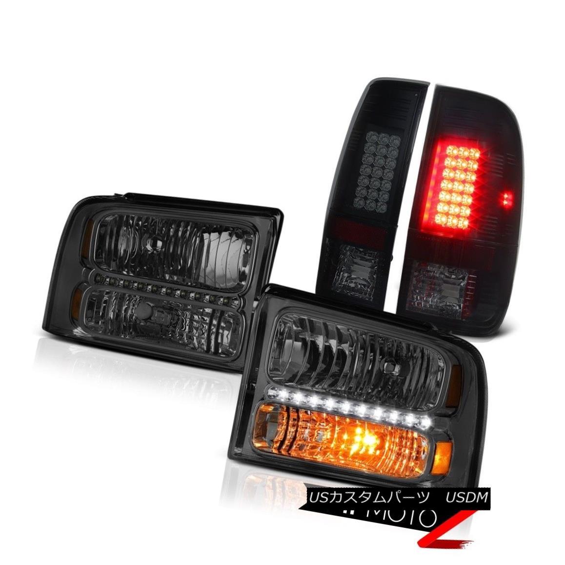 テールライト Crystal Smoke Headlights LED Tail Lights Lamps 2005 2006 2007 Ford F250 Outlaw クリスタルスモークヘッドライトLEDテールライトランプ2005 2006 2007 Ford F250 Outlaw