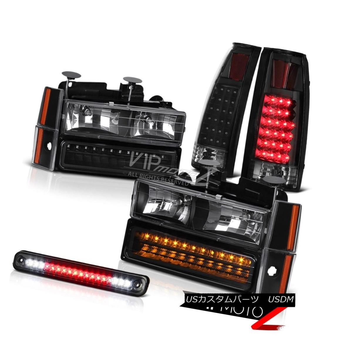 テールライト 3RD Brake Top Mount Cargo Cab LED Tail Light Brake Lamp Corner Signal Headlights 3RDブレーキトップマウントカーゴキャブLEDテールライトブレーキランプコーナー信号ヘッドライト