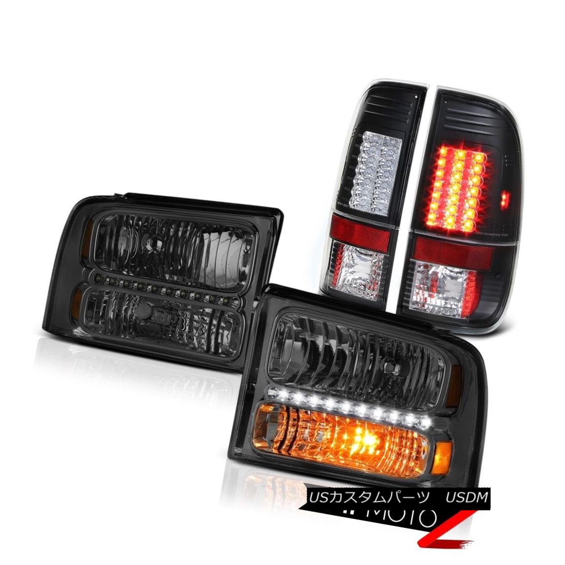 テールライト Dark Front Headlights LED Bulbs Tail Lamps 2005 2006 2007 Ford F250 King Ranch ダークフロントヘッドライトLED電球テールランプ2005 2006 2007 Ford F250 King Ranch