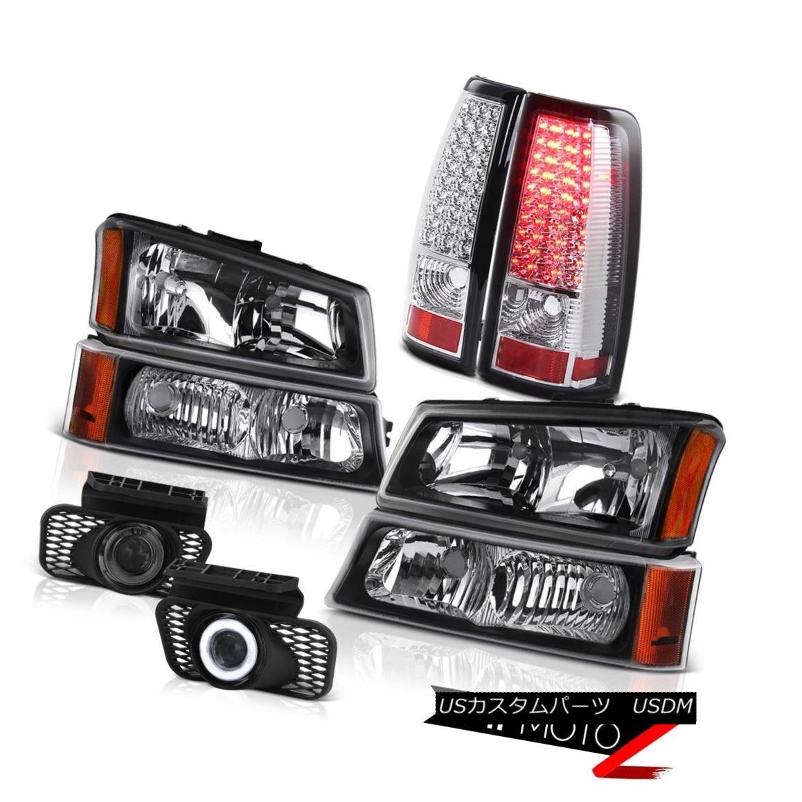 テールライト Black Headlights LED Bulb Brake Tail Light Projector DRL Fog 03-06 Silverado LTZ ブラックヘッドライトLEDバルブブレーキテールライトプロジェクターDRL Fog 03-06 Silverado LTZ