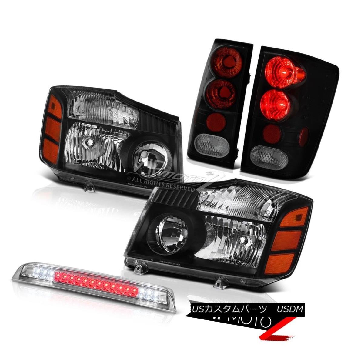 テールライト Left Right Headlamps Brake Tail Lamps Roof 3rd Cargo LED For 2004-2015 Titan LE 左の右ヘッドライトブレーキテールランプ屋根第3貨物LED 2004-2015 Titan LE