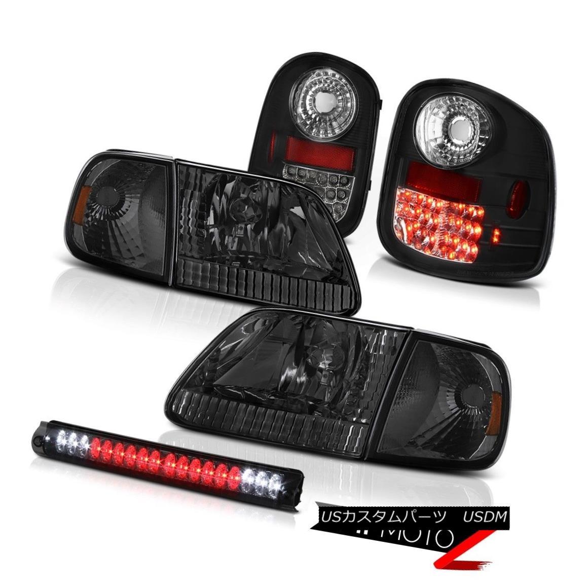 テールライト Smoke Corner+Headlights LED Tail Lamps Brake Cargo 97-03 F150 Flareside Lariat スモークコーナー+ヘッドリッグ hts LEDテールランプブレーキカーゴ97-03 F150 Flareside Lariat