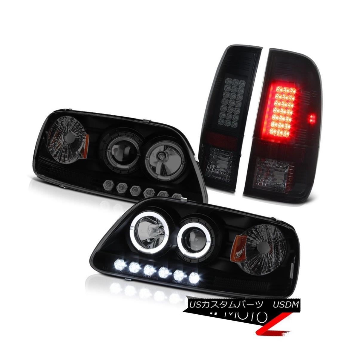 テールライト Headlight Dual Halo Projector LED Bulbs 97-03 F150 Lariat Signal SMD Tail Lights ヘッドライトデュアルヘイロープロジェクターLED電球97-03 F150 Lariat信号SMDテールライト