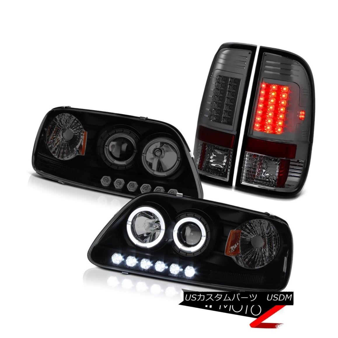 テールライト F150 SVT 97-03 Halo SINSTER BLACK Headlights Smoke LED Tail Lights Lamp Set New F150 SVT 97-03 Halo SINSTER BLACKヘッドライトスモークLEDテールライトランプセットNew