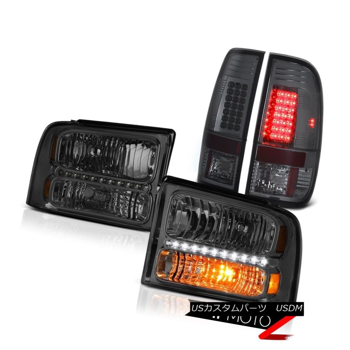 テールライト Smoke Tinted Headlamps LED Tail Lights 2005 2006 2007 Ford F250 F350 King Ranch 煙を発するヘッドランプLEDテールライト2005 2006 2007 Ford F250 F350キングランチ
