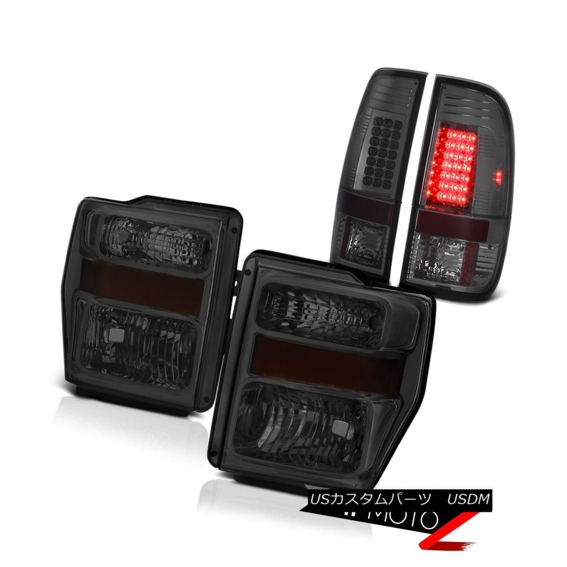 テールライト 08 09 10 Ford F250 F350 Super Duty SMOKE LED Tail Lights LEFT RIGHT Headlights 08 09 10 Ford F250 F350スーパーデューティSMOKE LEDテールライトLEFT RIGHTヘッドライト