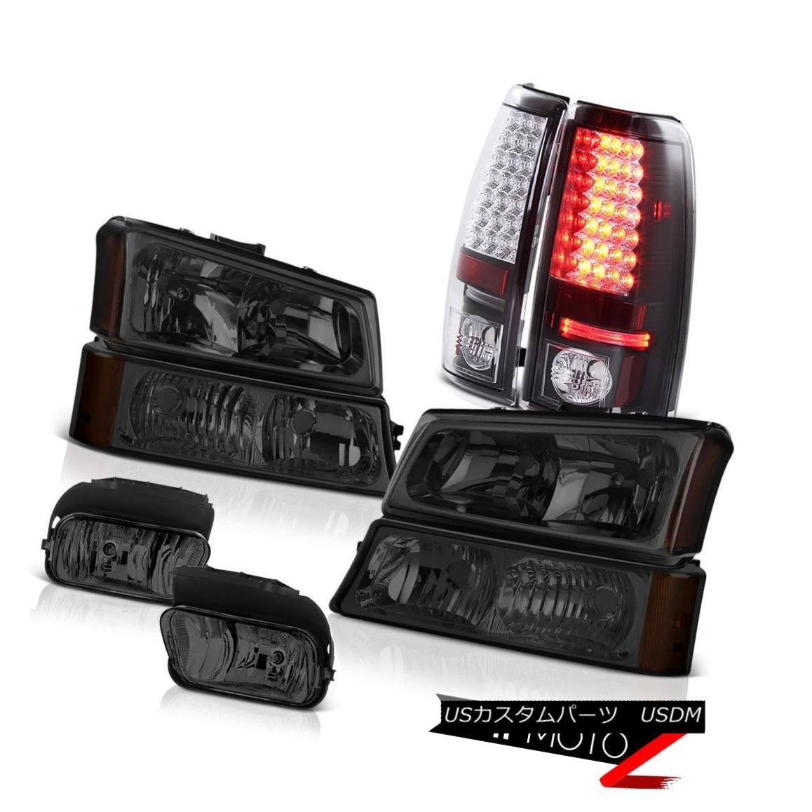 テールライト 03-06 Silverado DuraMax 6.6L Parking Signal Headlight Matte Black Tail Light Fog 03-06 Silverado DuraMax 6.6Lパーキングシグナルヘッドライトマットブラックテールライトフォグ