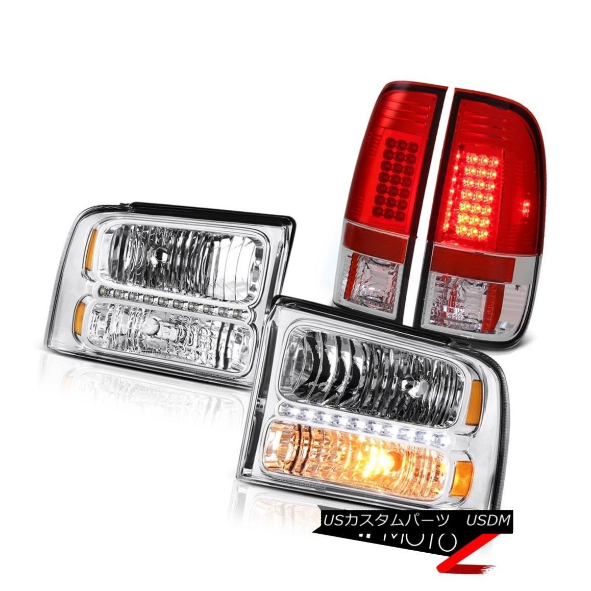 テールライト Crystal Clear Headlight LED Bulb Brake Tail Light 2005 2006 2007 F250 King Ranch クリスタルクリアヘッドライトLED電球ブレーキテールライト2005 2006 2007 F250キングランチ
